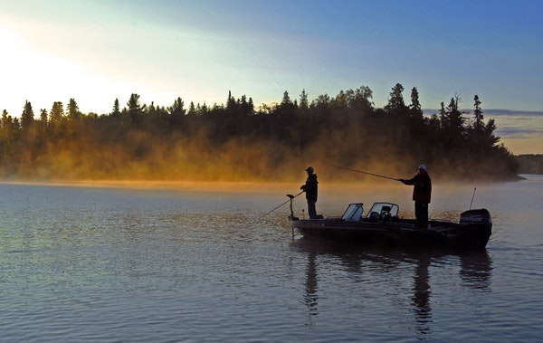 Walleye action on Lake of the Woods has been fantastic, according to Kyle Kruidenier of Oak Island Resort.