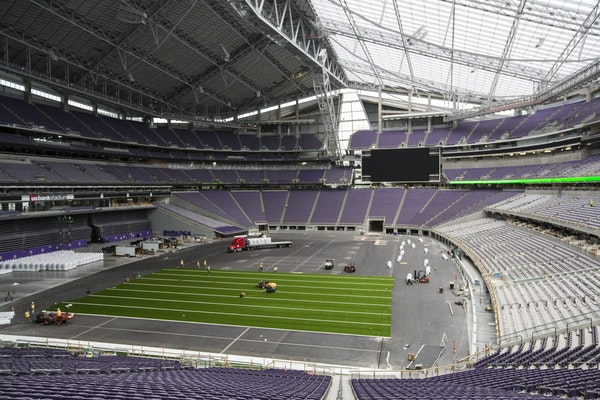 Tickets for the $19 guided tours of U.S. Bank Stadium went on sale Thursday.