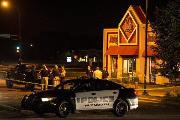Police responded to an officer-involved shooting at an Arby's in Plymouth on Thursday, July 23, 2015