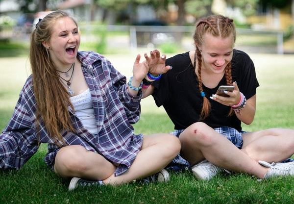 Haley Klun, 15, and her friend Chloe Bennett, 14, playfully pushed each other around after Haley Snapchatted a photo of Chloe's skateboarding injury