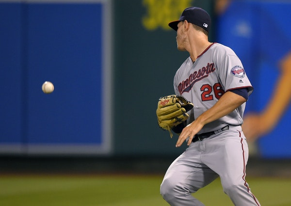 Twins right fielder Max Kepler misplayed a ball hit by Jett Bandy, leading to the Angels' big fifth inning.
