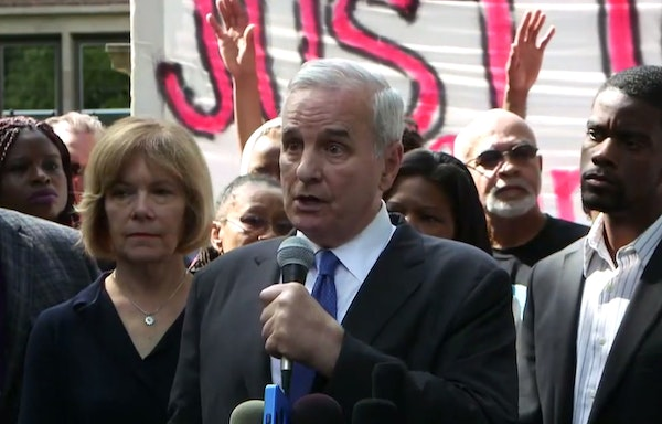 Gov. Dayton calls for a federal investigation of the Philando Castile shooting in Falcon Heights.