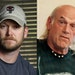 """FILE - This combination of file photos shows Chris Kyle, left, former Navy SEAL and author of the book """"American Sniper,"""" on April 6, 2012, and former"""