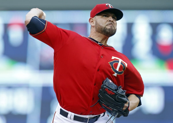 Ricky Nolasco had a strong start for the Twins, but he couldn't make it through the eighth inning.