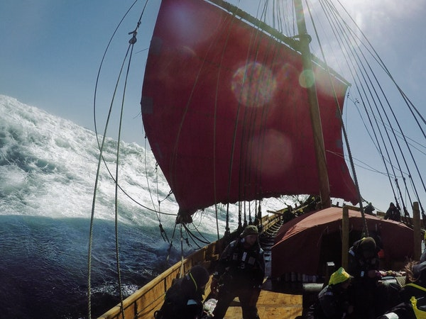 The Draken Harald Hårfagre is billed as the world's largest Viking ship.