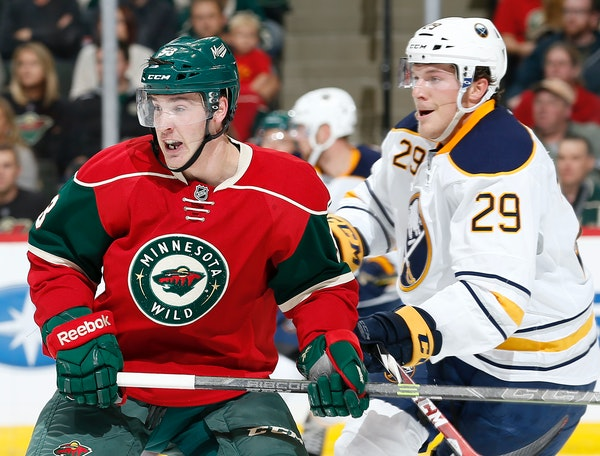 Forward Tyler Graovac (left), whom the Wild re-signed Thursday, has an inside track to make the team for a second year in a row because for the first