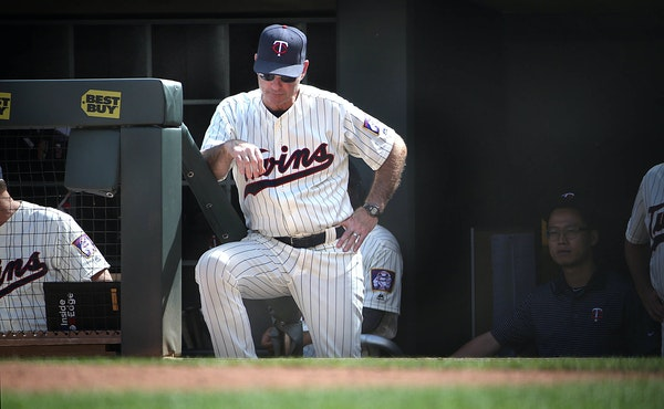 """General Manager Terry Ryan said of Paul Molitor: """"This hasn't been easy for him — I can see it on his face."""""""