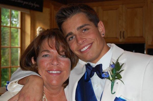 Colleen Ronnei and her son, Luke, 20, who died in January of a drug overdose.
