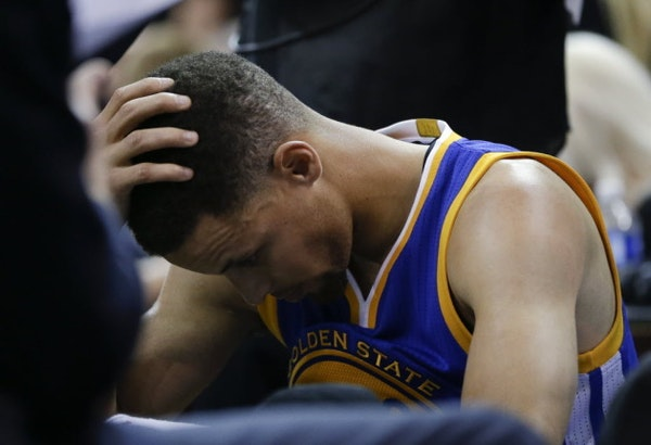 Bad night for Curry family: Flying mouthpieces, Twitter rants, mistaken identity