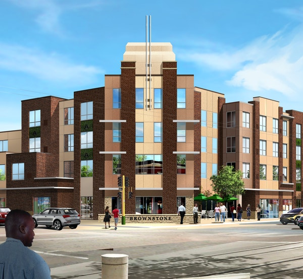 Model Cities, the St. Paul nonprofit, broke ground recently on the Brownstone, with 35 affordable-housing units.