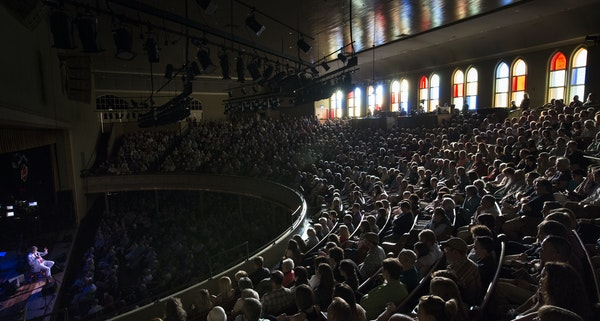 """Garrison Keillor's live broadcast of """"A Prairie Home Companion"""" at the Ryman Auditorium in Nashville, Tenn., in early May."""