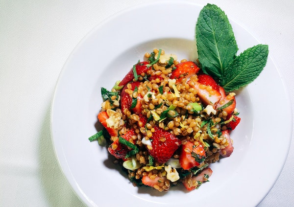 Special to the Star Tribune Wheat Berry, Strawberry and Walnut Picnic Salad