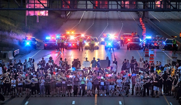 Black Lives Matter protest occupied I-94 for four hours.