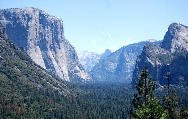 Yosemite Valley, part of the national park, holds many wonders.