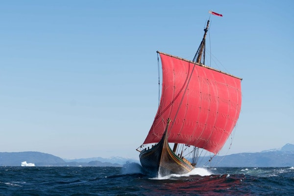 The Draken Harald Hårfagre sailed across the Atlantic and was to visit ports along the Great Lakes, ending in Duluth as part of its tall ships festiv