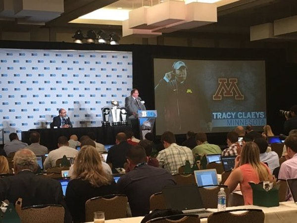 Live Blog replay: Gophers coach Tracy Claeys at Big Ten media day