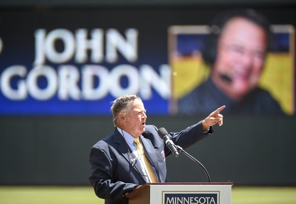 John Gordon spent 25 seasons with Twins radio, partnered with Herb Carneal at the start of his career and Dan Gladden at the end.