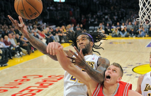 Jordan Hill and Cole Aldrich went up against each other in 2012, when Hill was with the Lakers and Aldrich with the Rockets. Now both will play for th
