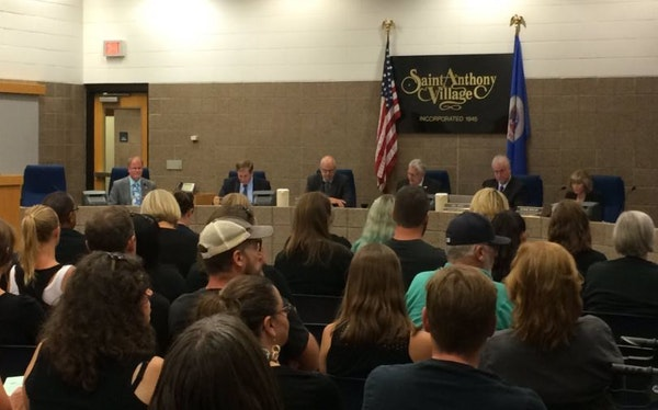 The St. Anthony City Council meeting drew a crowd Tuesday night interested in a conversation about race relations.