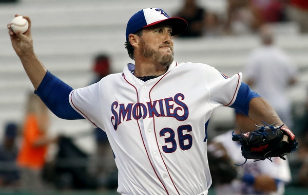 Joe Nathan signed with the Cubs last month and pitched well in seven games for Class AA Knoxville. Now at Class AAA Iowa, he is hoping to return to th