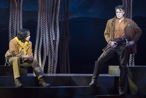 """Justin Gregory Lopez, left, and Ben Rumson in """"Paint Your Wagon."""""""