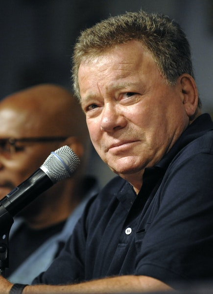 """William Shatner says """"Star Trek"""" fans come to conventions partly to see one another."""