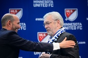Major League Soccer, Commissioner Don Garber and Dr. Bill McGuire in March
