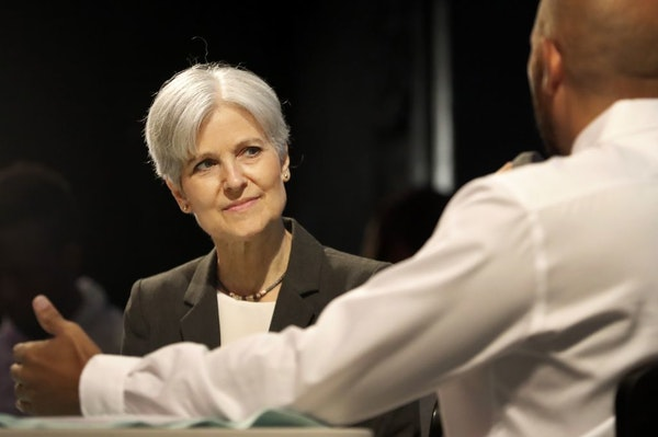 Green Party presidential candidate Jill Stein participated at a community conversation at the Capri Theater in Minneapolis on Tuesday night.