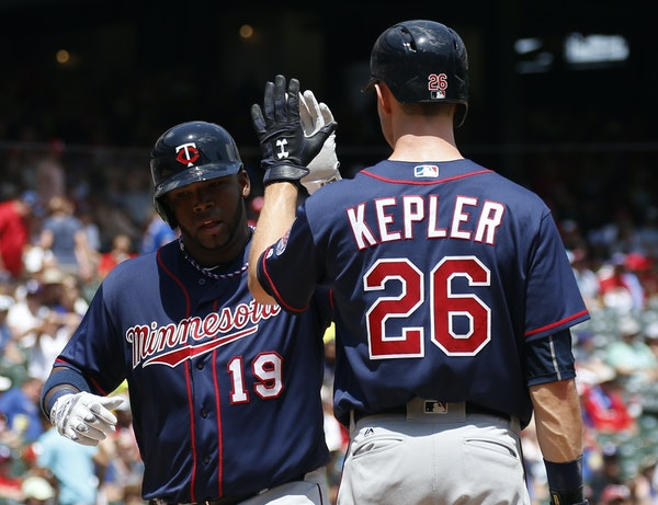 Max Kepler (26) hit four home runs against Cleveland this week, including three on Tuesday night.