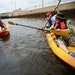 Kayakers prepared for water to drain in the Upper St. Anthony Falls Lock on the Mississippi river in Minneapolis in 2015. While this section of the ri