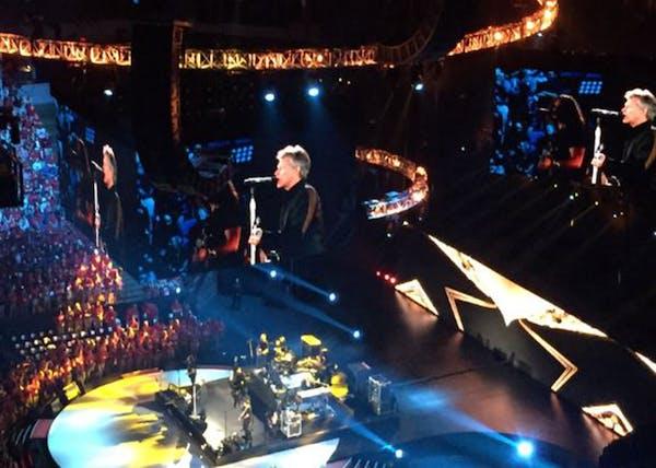 Jon Bon Jovi performed Thursday at Target Center as a part of Target's employee meeting.