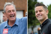 Democratic Rep. Rick Nolan, left, is being challenged a second time by Republican Stewart Mills in Minnesota's Eighth Congressional District. Both m