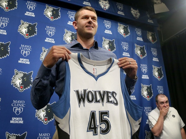 New Wolves center Cole Aldrich has remained close to Bloomington Jefferson, working out with the Jaguars during the All-Star break and playing in thei