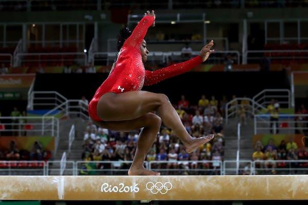 No golden sweep for Simone Biles