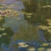 """Claude Monet used streaks of blue to suggest the sky reflected in his waterlily pond in his 1919 painting """"Le bassin aux nymphéas."""""""