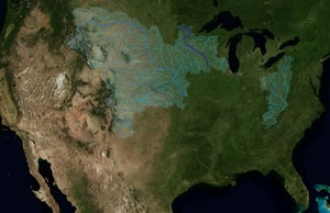 Watch the United States' waterways empty into the Mississippi. Source: NASA's Scientific Visualization Studio.