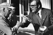 October 6, 1973: DFL mayoral candidate Al Hofstede campaigned on W. Broadway in north Minneapolis.