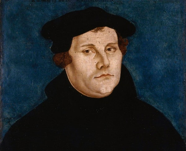 """Detail of Lucas Cranach the Elder's """"Martin Luther and Katharina von Bora,"""" 1529."""