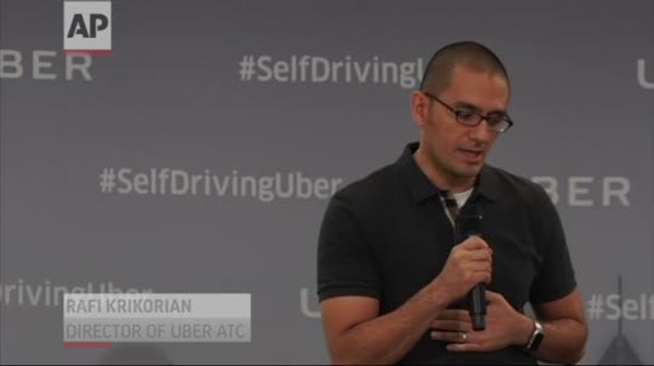 Uber passengers testing self-driving cars