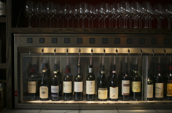 Some of the by-the-glass offerings at Terzo in Minneapolis.