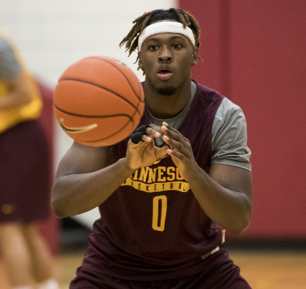 """Gophers senior guard Akeem Springs, a transfer from Wis.-Milwaukee, tweeted his """"time in Minnesota may be shorter,"""" but later deleted it."""