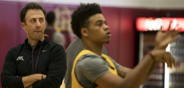 Junior Nate Mason is one of the basketball players Richard Pitino will look to in leading the Gophers this season.