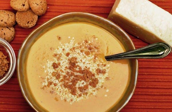 Creamy Pumpkin Soup With Amaretti