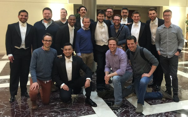 After years of scoping each other from a respectful distance, the singers of Cantus and Chanticleer finally met at a Virginia hotel in February. They'