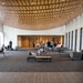 A spacious new lobby is a centerpiece of the temple's addition, which also includes a preschool, new Hebrew school classrooms and a courtyard.