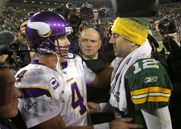 These two quarterbacks, Brett Favre and Aaron Rodgers, have started nearly every game for the Packers since 1992. Meanwhile, Favre is one of 22 quarte