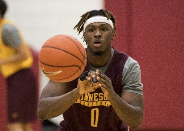 """Senior guard Akeem Springs, a graduate transfer from Wisconsin-Milwaukee, has """"changed the tone"""" of practice since his arrival in August, says Gophers"""