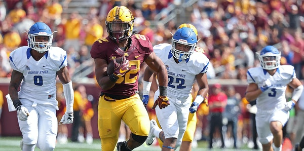 Kobe McCrary ran for 176 yards against Indiana State. That's the highest total for a Gopher at TCF Bank Stadium for someone other than David Cobb.