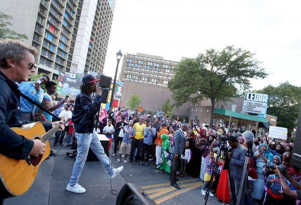 Somali-Canadian poet and rapper K'naan, shown earlier in the month during the West Bank Block Party, is involved in the series, which is controversial