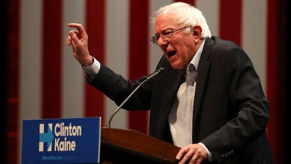 Sanders stumps for Clinton in Minneapolis